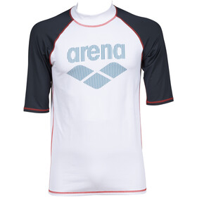 arena Rash SS UV Vest Men white/ash grey